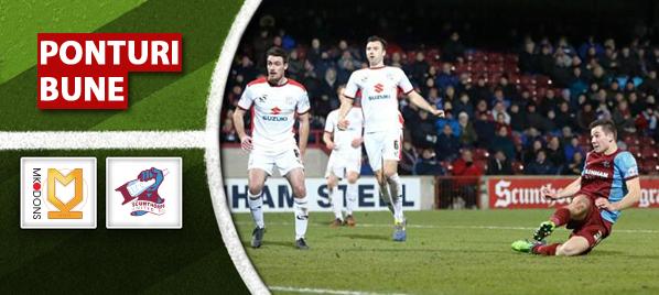 Pariuri fotbal Milton Keynes vs Scunthorpe – Anglia League One