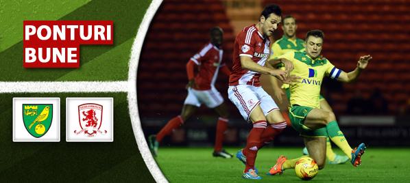 Pronosticuri Fotbal – Norwich vs Middlesbrough – Championship