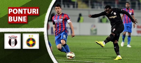Pronosticuri pariuri Astra Giurgiu vs Steaua – Liga 1