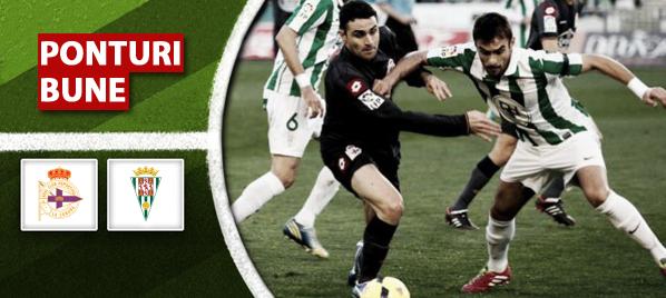 Ponturi fotbal- La Coruna vs Cordoba -Primera Division