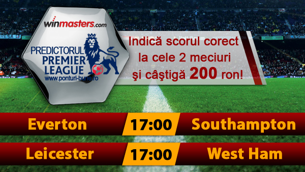 Predictorul Premier League la Winmasters - castiga 200 ron