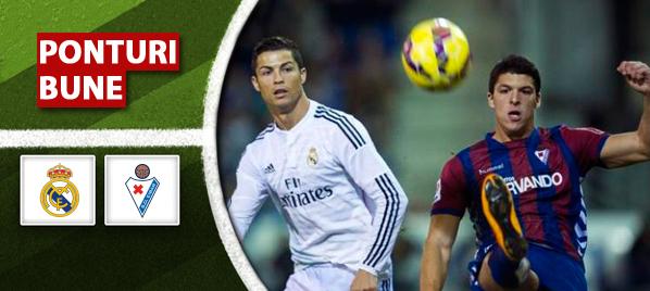 Ponturi fotbal – Real Madrid vs Eibar – Primera Division