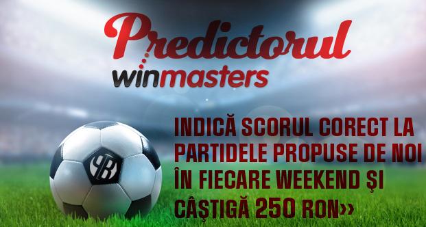 Predictorul Winmasters – castiga 250 RON