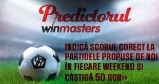 Predictorul Winmasters - castiga 50 ron