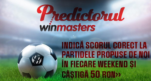 Predictorul Winmasters – castiga 50 ron