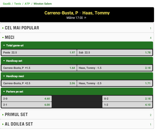 Carreno-Busta vs Tommy Haas