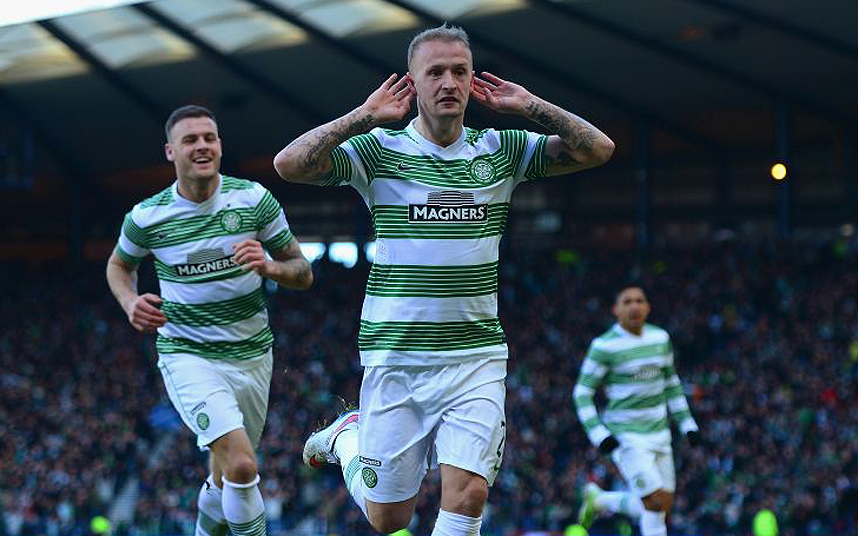 Celtic v Rangers - Scottish League Cup Semi-Final...GLASGOW, SCOTLAND - FEBRUARY 01: Leigh Griffiths of Celtic celebrates scoring the opening goal during the Scottish League Cup Semi-Final between Celtic and Rangers at Hampden Park on February 1, 2015 in Glasgow, Scotland. (Photo by Jamie McDonald/Getty Images)