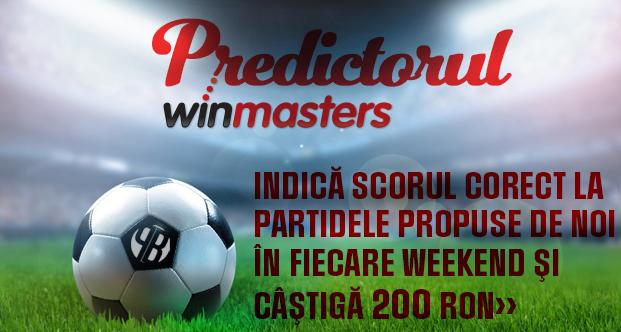 Predictorul Winmasters – castiga 200 RON