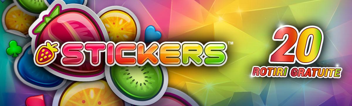 Cazino online – 20 rotiri gratuite la jocul Stickers