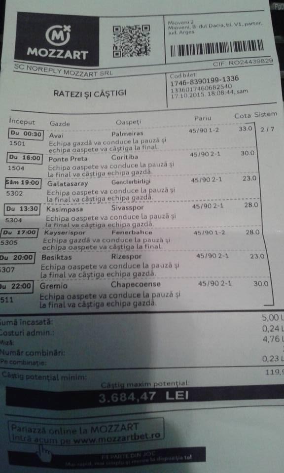 Biletul Zilei : Madalin propune un sistem pauza final !