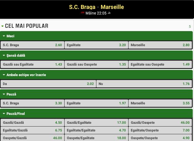 Braga vs Marseille