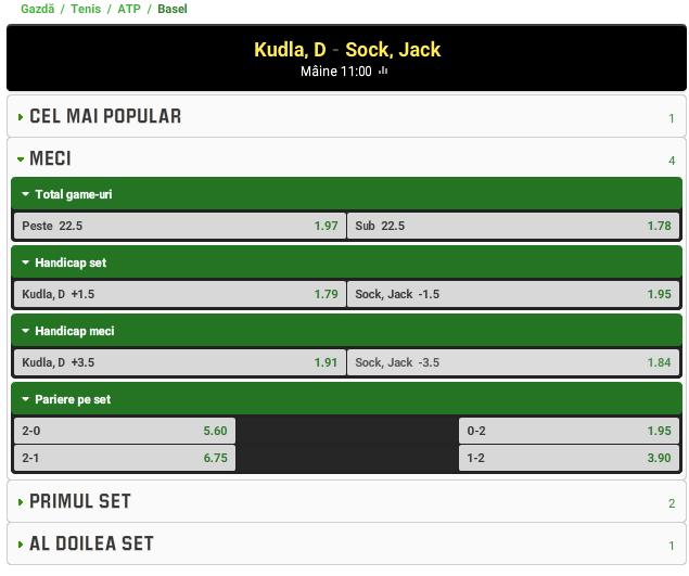 Denis Kudla vs Jack Sock