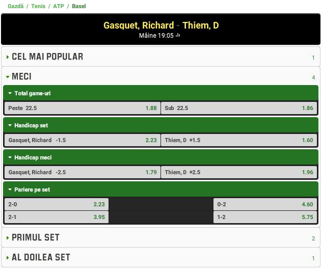 Richard Gasquet vs Dominic Thiem