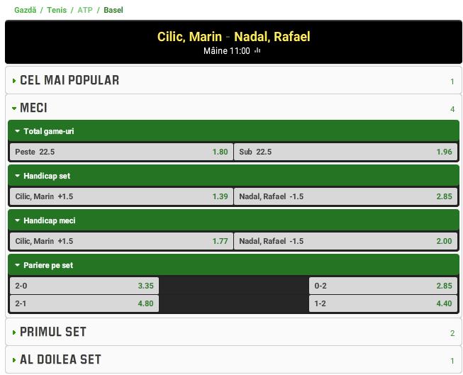 Marin Cilic vs Rafael Nadal