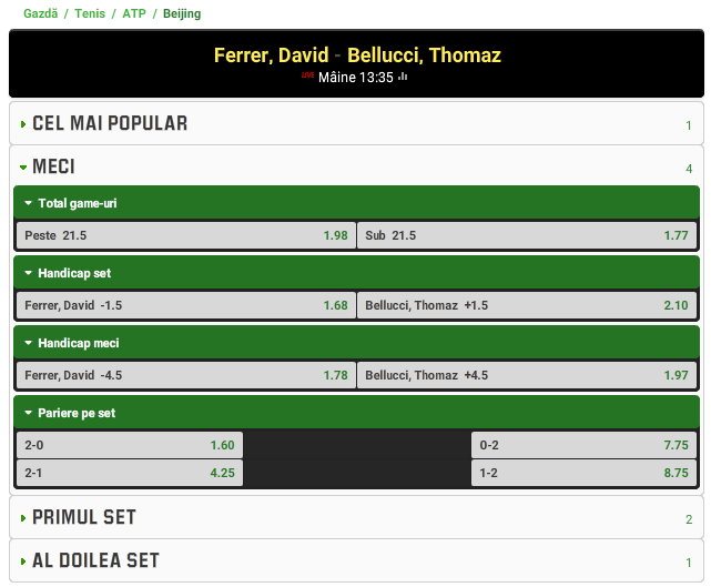 David Ferrer vs Thomaz Bellucci