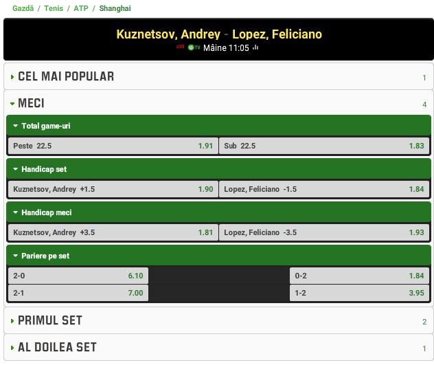 Andrey Kuznetsov vs Feliciano Lopez