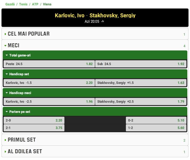 Ivo Karlovic vs Sergiy Stakhovsky