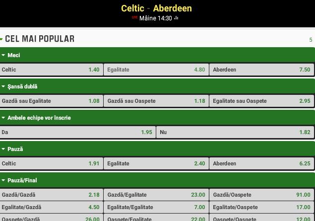 Celtic vs Aberdeen