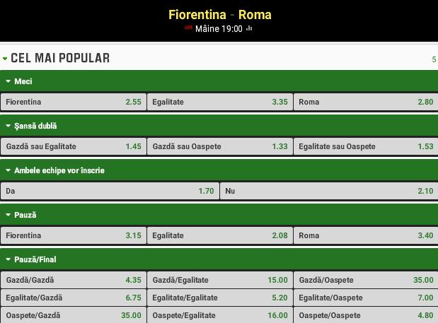 Fiorentina vs AS Roma