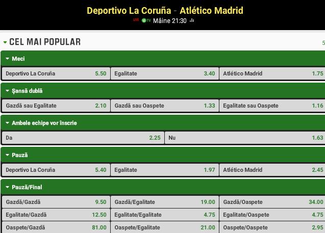 La Coruna vs Atletico Madrid