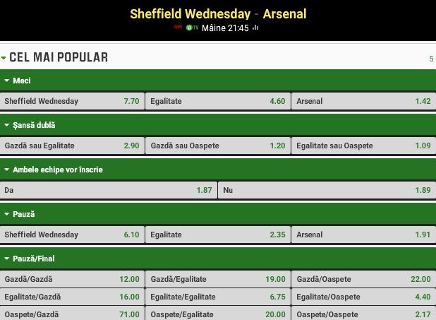 Sheffield vs Arsenal