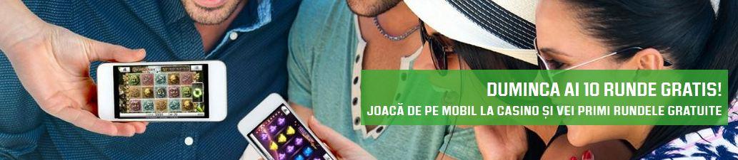 Jocuri ca la aparate : 10 runde gratuite pe mobil
