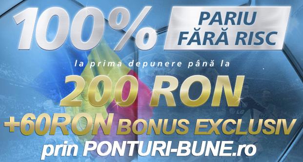 Bonus exclusiv de 60 ron pentru clientii noi de la Sportingbet prin Ponturi-bune.ro
