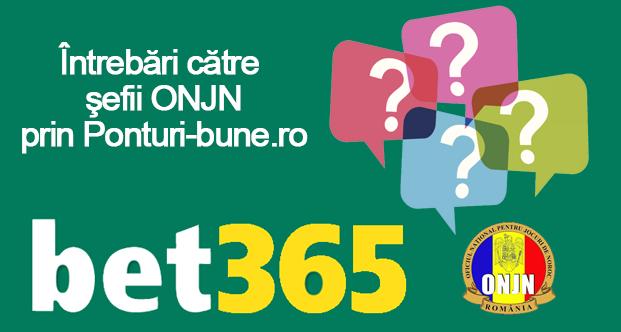 Ai intrebari pentru sefii ONJN despre amenzile Bet365? Adreseaza-le aici!
