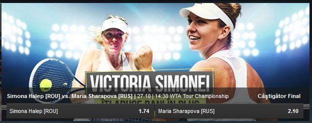 NetBet: 10% bonus la orice pariu pe Halep vs. Sharapova