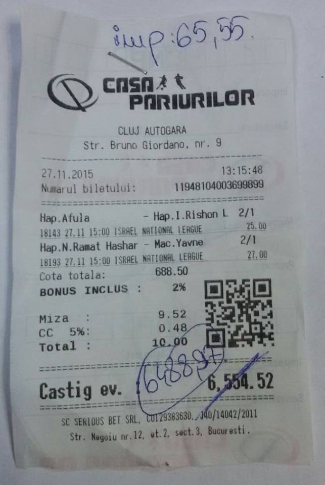 Bilete Pariuri : Un parior a dat lovitura cu Pauza Final !