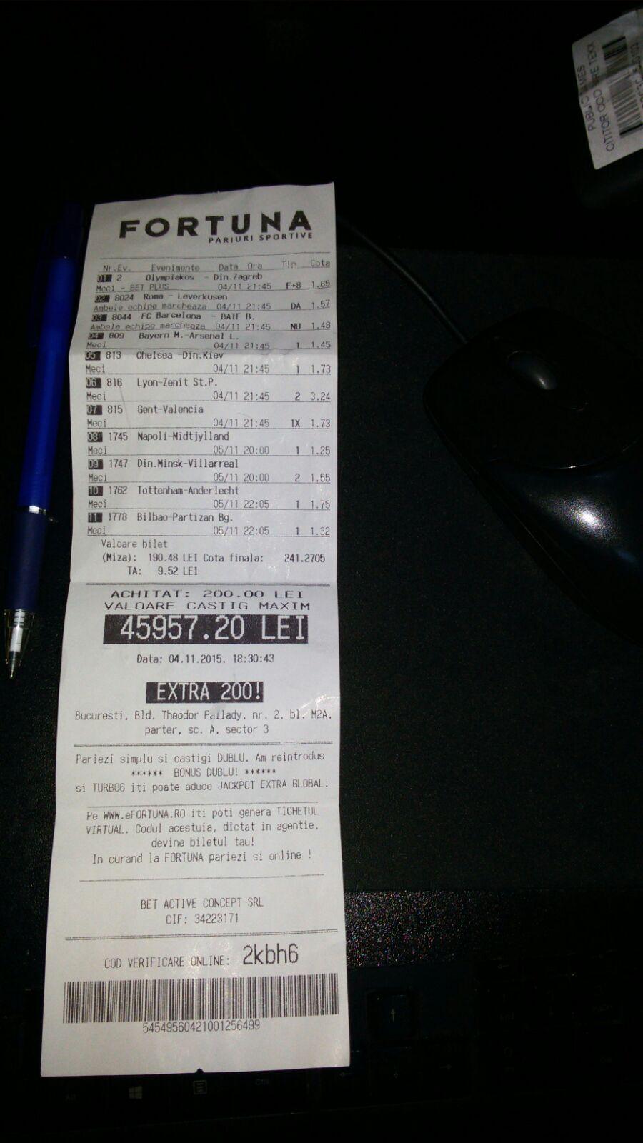 Bilete Pariuri : Un parior din Capitala a dat lovitura si a castigat 10.000 de euro !