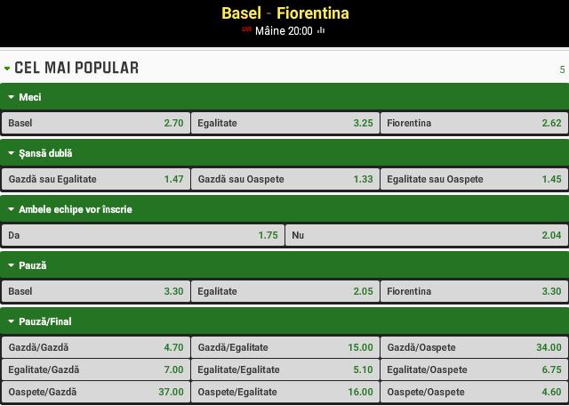 Basel vs Fiorentina