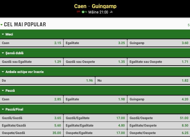 Caen vs Guingamp