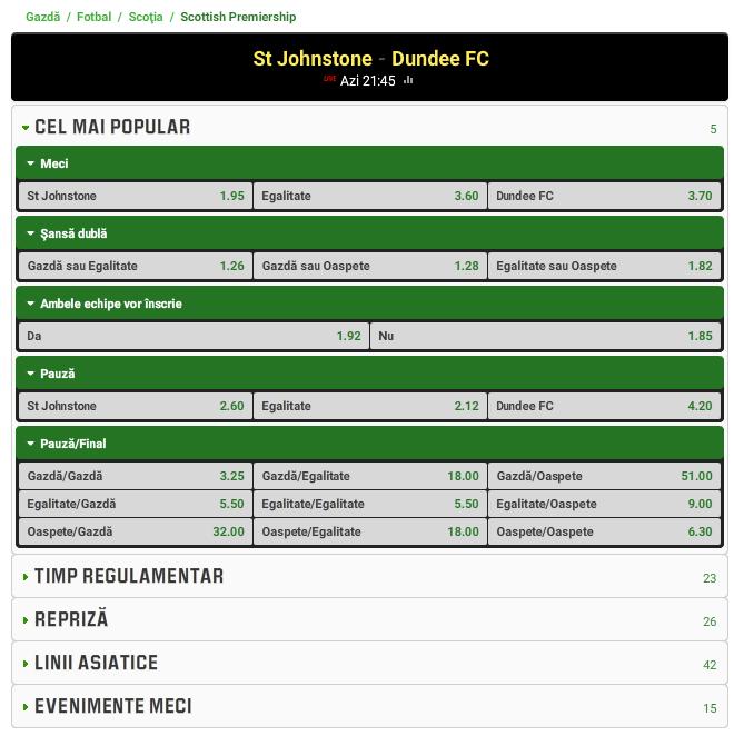 St. Johnstone vs Dundee FC