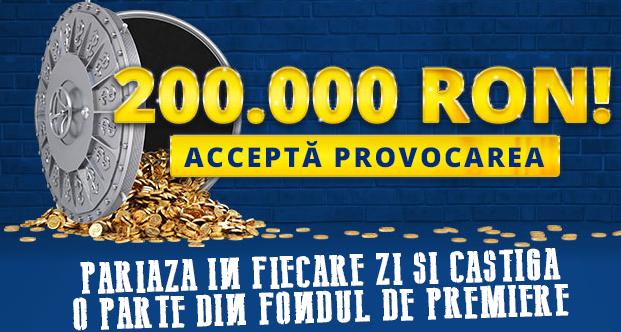 Accepta provocarea Sportingbet si castiga o parte din cei 200,000 de lei