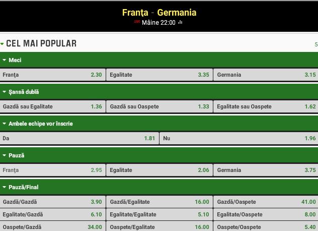 Franta vs Germania