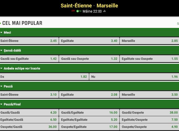 Saint-Etienne vs Marseille