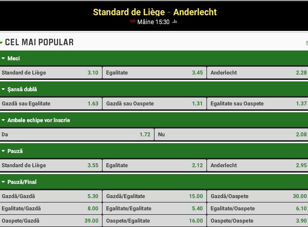Standard Liege vs Anderlecht