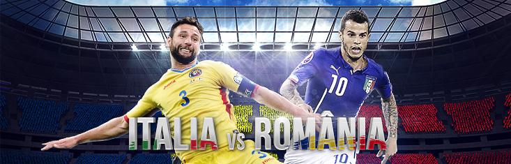 Pariu gratuit de 30 RON la amicalul Italia - Romania