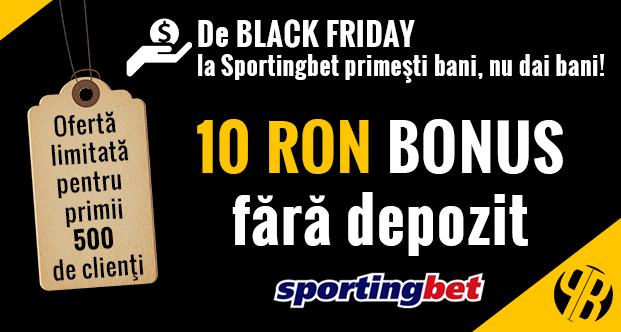 Oferta Limitata: 10 RON fara depozit la Sportingbet