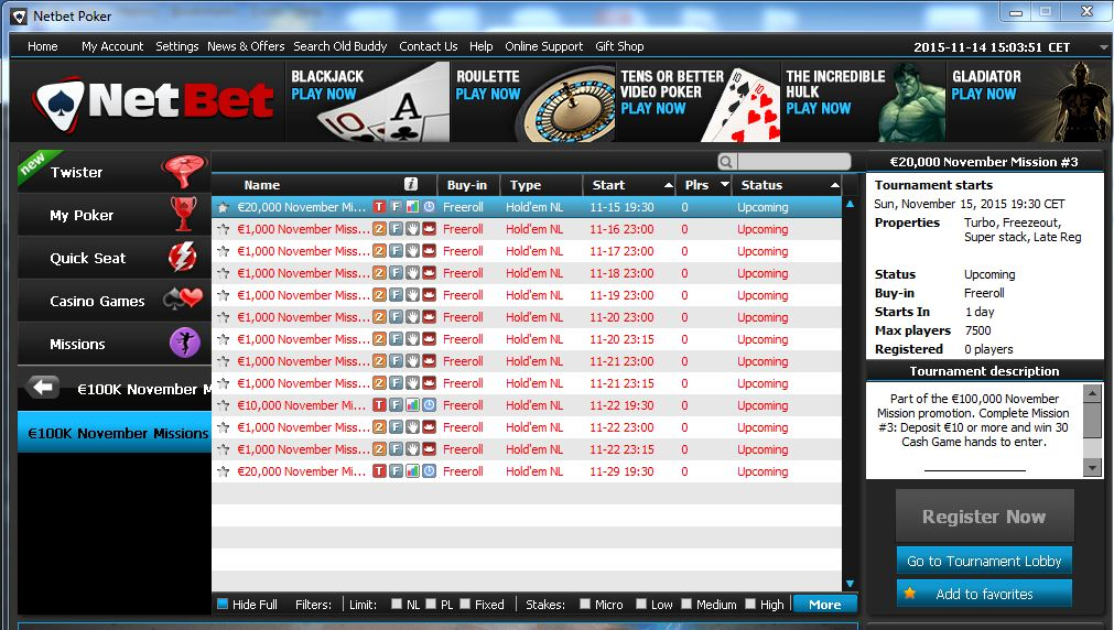 turneu poker freeroll Netbet
