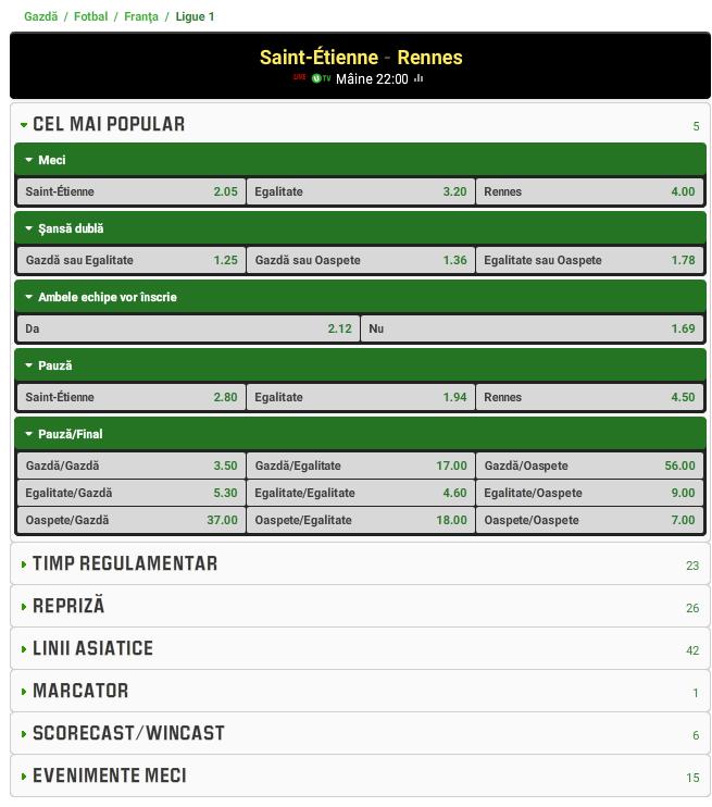 Saint Etienne vs Rennes