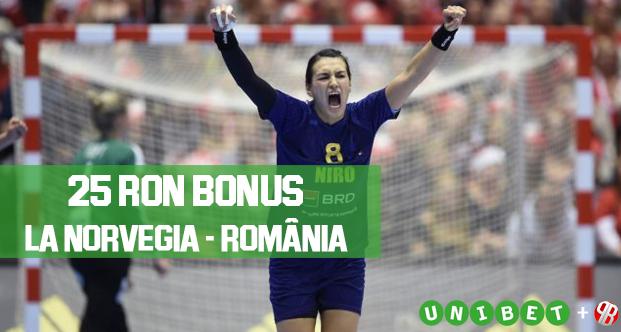 25 RON Bonus la meciul Norvegia – Romania