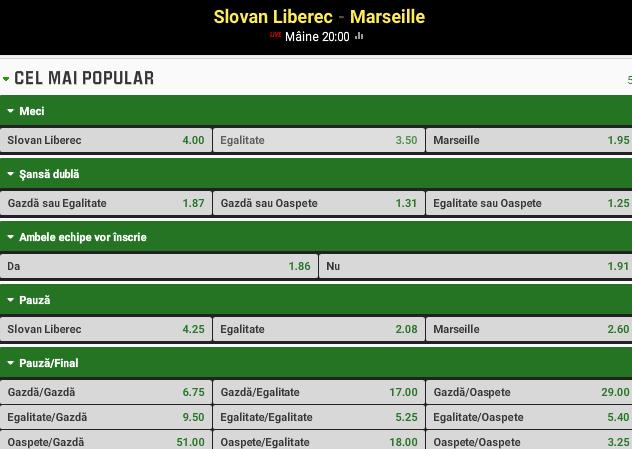 Liberec vs Marseille