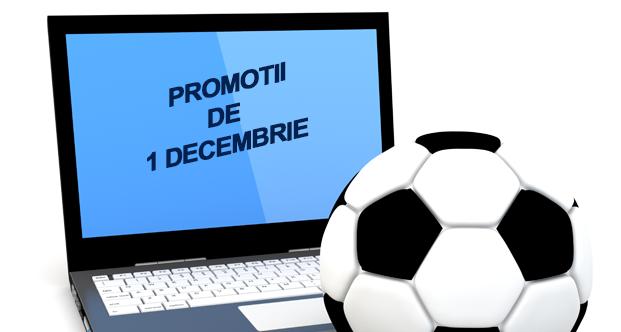 Top promotii la pariuri online de 1 Decembrie