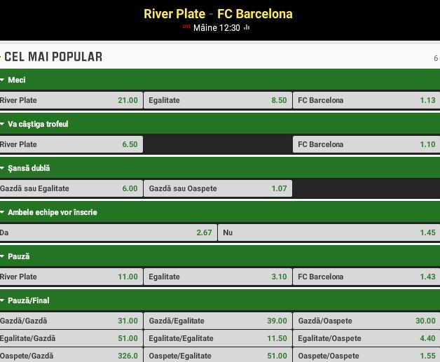 River Plate vs Barcelona
