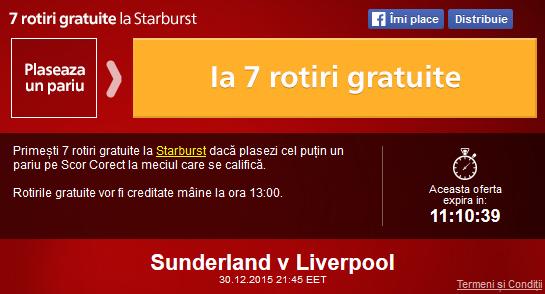 Meciul zilei - Sunderland vs Liverpool