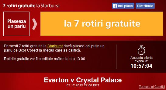 Meciul zilei - Everton vs Crystal Palace