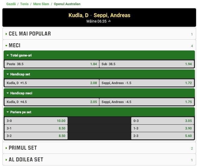 Denis Kudla vs Andreas Seppi