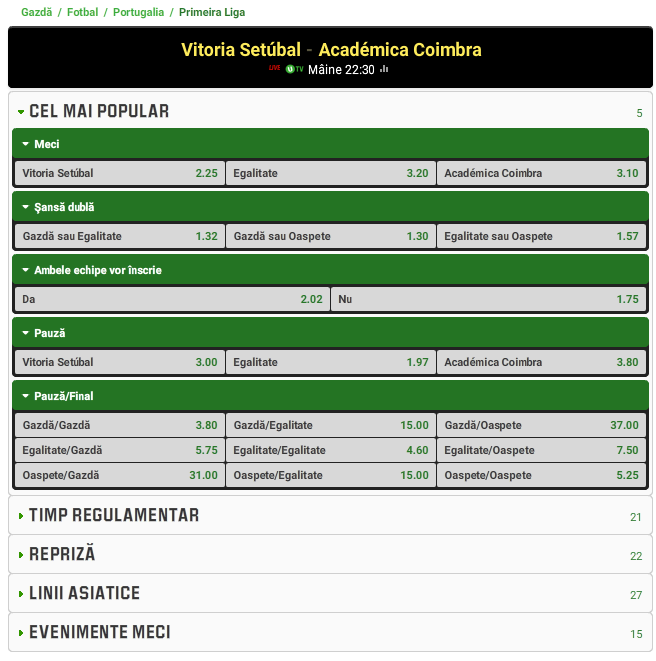 Setubal vs Academica